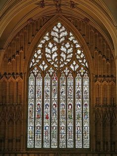 York Minster, York. The largest medieval stained glass window!