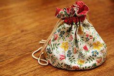 Round Bottomed Drawstring Bag