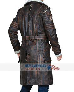 0cddc9736f0 Fallout 4 Elder Maxson Brown Leather Coat - New American Jackets
