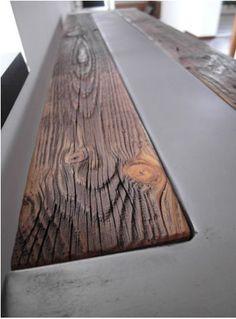 Rústico hecho a mano reciclado Mesa consola de madera y acero
