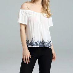 za Fashion off shoulder shirt