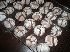 Aga w kuchni: Popękane czekoladowe ciasteczka