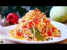 Sauerkraut Salad Recipe, Japchae, Vegetable Recipes, Salads, Spaghetti, Food And Drink, Vegetables, Cooking, Ethnic Recipes
