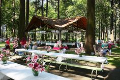 Picnic shelter | My family and friends did all the set up an… | Flickr