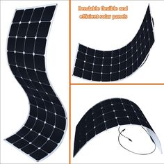 These solar panels would be perfect. KINGSOLAR™ 150W 24V Semi Flexible Solar Panel Bendable Solar Panel $326