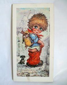 """✪ Michel T. """"Junge in Paris"""" Vintagebild  ✪ von Camden-Market auf DaWanda.com"""