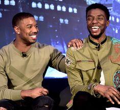sbstianstan: Michael B. Jordan and Chadwick Boseman attend the...