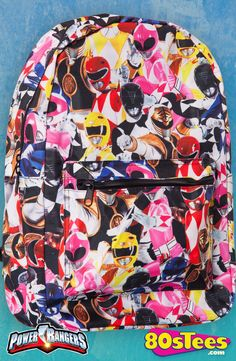 Mighty Morphin Power Rangers Backpack: Power Rangers Backpack  Kids and parents love the design of this popular backpack featuring all of the Power Rangers with colorful art and illustration.