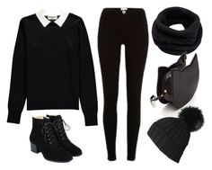 """""""(Y/N) Outfit 3~"""" by totally-emo ❤ liked on Polyvore featuring Essentiel, River Island, Helmut Lang and Black"""