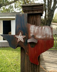 Check out this item in my Etsy shop https://www.etsy.com/listing/257357970/rustic-texas-wall-mounted-bottle-opener