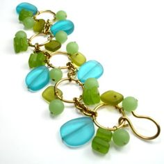 By The Sea Charm Bracelet  Designed by Ashley Bunting