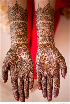 bridal mendhi....there has to be a bride and groom....a doli if poss...and an elephant ;p