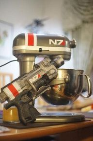 I love my pink Kitchenaid, but if I had known a Mass Effect version existed I would have waited to get one!