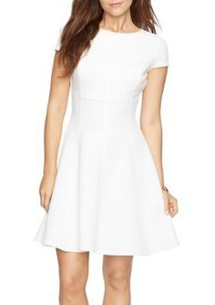 American Living  White Chevron Jacquard Dress