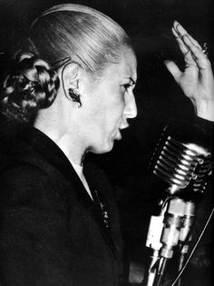 One of the Great Women of History - Eva Peron. Evita's charitable organization built homes for the poor and homeless, and also provided free health care to citizens. http://thesinglemombomb.com/?s=womens+history  #WomensHistoryMonth #womensday #thesinglemombomb