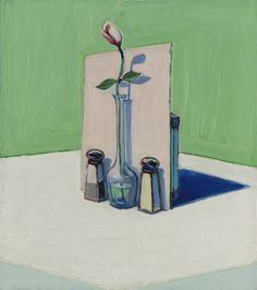 thunderstruck9:  Wayne Thiebaud (American, b. 1920), Flower in Vase, 1962. Oil on canvas, 18 x 16 in.