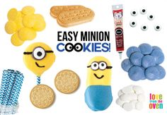 Easy No Bake Minion Cookies ~ Love From the Oven