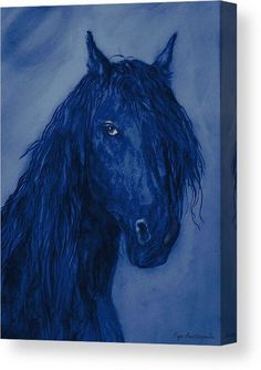Blue Heart Canvas Print / Canvas Art by Faye Anastasopoulou Heart Canvas, Heart Art, Thing 1, Art For Sale Online, Horse Portrait, Canvas Prints, Art Prints, Wood Print, Artist At Work