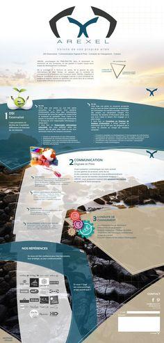 Web site AREXEL.com - Volons de vos propres ailes #webdesign #arexel #parallax #Webagency #movingmenu #Dynamic