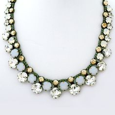 Sorrelli Necklaces, Riverstone Collection. Crystal collar necklace. A fabulous bridal necklace, perfect sparkle for evening wear, special occasions.