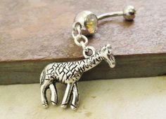 Giraffe Belly Button Ring Belly Jewlery by MidnightsMojo on Etsy, $13.00