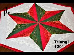 Billedresultat for 120 degree quilts Christmas Quilting Projects, Christmas Quilt Patterns, Star Quilt Patterns, Patchwork Patterns, Patchwork Table Runner, Patchwork Blanket, Quilted Table Runners, Quilting Tutorials, Quilting Designs