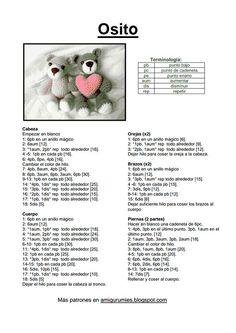 Best 9 Ein neuer Amigurumi (Patterns) Osito Cabezón – Free Pattern auf Spanisch mehr Fotos hier: entrehilosyalgoma … Un nuevo amigurumi (Patrones) Source by – SkillOfKing. Crochet Bear Patterns, Crochet Doll Pattern, Amigurumi Patterns, Crochet Animals, Crochet Dolls, Doll Patterns, Crochet Diy, Quick Crochet, Crochet Mignon