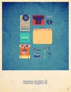 """Curioos.com   """"Moonrise Kingdom Kit"""" by Alizée Lafon (France) - http://pinterest.com/curioos"""
