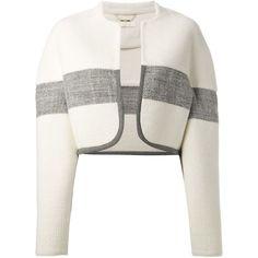 Chloé cropped stripe blanket jacket