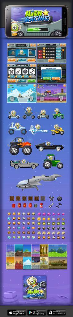 Game - Alien Star Racing on Behance
