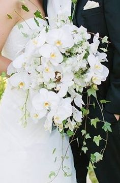 Orchid and Ivy Bouquet