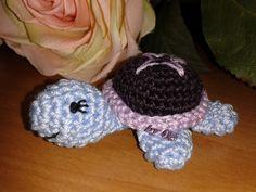 ✿ڿڰۣ✿ Oes - Meine Häkelarbeiten ✿ڿڰۣ✿: kleine gehäkelte Schildkröte mit Häkelanleitung