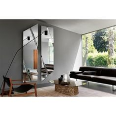 """Design: Daniel Libeskind Bent glass back silvered and three flat mirrors, this is """"The Wing"""" the wall mirror formed by two elements. The design is simple Daniel Libeskind, Home Furniture, Furniture Design, Furniture Showroom, Furniture Stores, Luxury Interior, Interior Design, Interior Garden, Room Interior"""