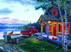Darrell Bush: Cabin Fever - 1000 Piece Jigsaw Puzzle by Buffalo Games