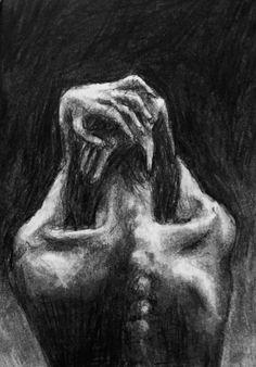 It's The Little Things That Count: Photo Body Image Art, Arte Emo, Arte Grunge, Deep Art, Arte Obscura, Dark Art Drawings, Scary Art, Arte Sketchbook, Gothic Art