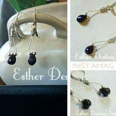 Sapphire Sterling Silver Earrings