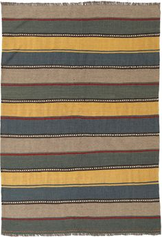 The Kilim is a flat woven carpet that is woven by nomads in the south of Persia. Hand Weaving, Carpet, Colours, Rugs, Modern, Farmhouse Rugs, Hand Knitting, Trendy Tree, Blankets