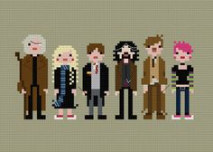 Pixel People Harry's Friends 2 PDF by weelittlestitches on Etsy, $6.00