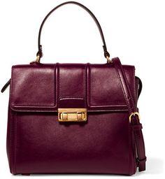 Lanvin - Jiji Small Leather Tote - Burgundy