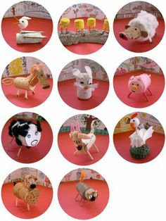 animals out of toilet paper tubes