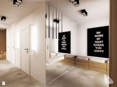 Projekt domu jednorodzinnego w Michałowicach - zdjęcie od Dream Design - Hol / Przedpokój - Dream Design Divider, Room, Furniture, Home Decor, Design, Living Room, Bedroom, Decoration Home, Room Decor