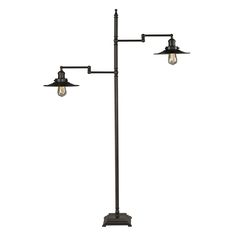 Dimond Lighting New Holland Restoration Floor Lamp in Oil Rubbed Bronze Product Description Bronze Floor Lamp, Led Floor Lamp, Cool Floor Lamps, Elk Lighting, Home Lighting, Floor Lamp Shades, Traditional Lighting, Glass Material, Dot And Bo