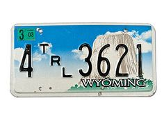 USA Nummernschild Wyoming