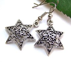 Ohrringe °°Sterntaler°°, Ohrhänger, Sterne von glanzundgeschmeide auf DaWanda.com