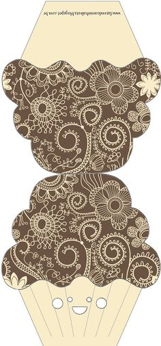 Moldes Decorados e Molde Limpo de Convite de Cupcake! - Fazendo a Minha Festa