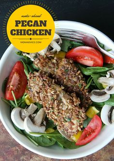 Make-Ahead Pecan Chicken Tenders from MomAdvice.com. I love that you can bake and freeze these for your week!
