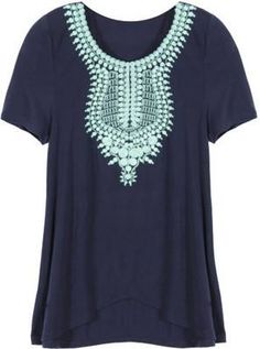 https://www.stitchfix.com/referral/3590654 THML Kahlo short sleeve knit top -- Would LOVE to get this exact top in my next fix!!!