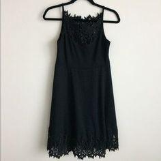 Free People Dresses & Skirts - Free People crochet lace detail black dress