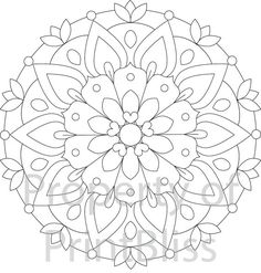2. Flower Mandala printable coloring page by PrintBliss on Etsy