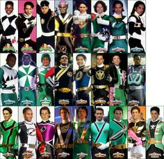 All the Green/Black Rangers